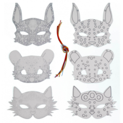 Pack 6 masques à colorier WONDERLAND