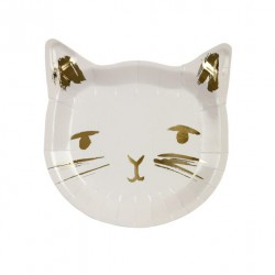 8 assiettes - Chat or