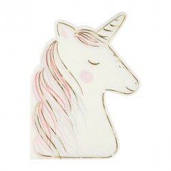 16 serviettes - Licorne