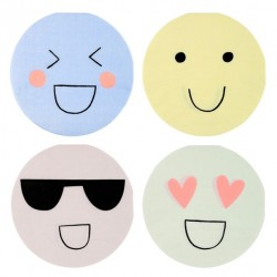 20 petites serviettes - Emojis