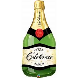 Ballon mylar-Bouteille de champagne