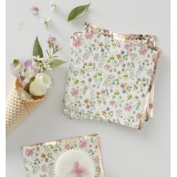 16 serviettes petites fleurs