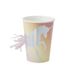 8 gobelets - Licorne iridescente tassel