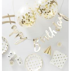 1 kit d'anniversaire doré (16 personnes)
