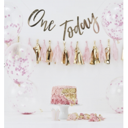 "1 kit anniversaire ""One today"" fille"