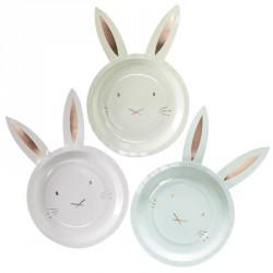 8 assiettes lapins