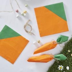 16 serviettes - Carotte
