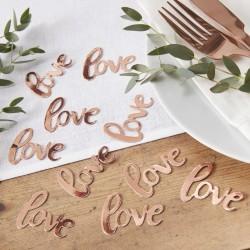 1 sachet confettis love or rose