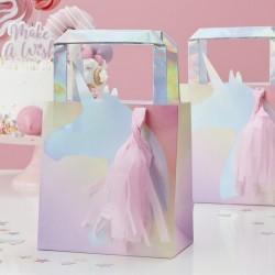 5 sacs licorne tassel