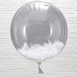 3 ballons géant plume