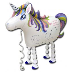 Ballon marcheur mylar-Licorne