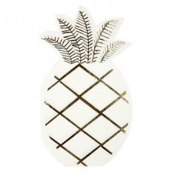 16 serviettes - Ananas doré