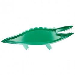 4 grandes assiettes crocodile