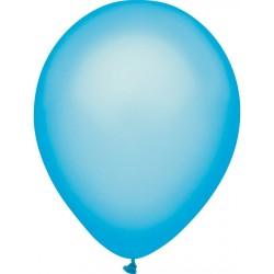 Ballon uni néon bleu