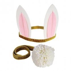 Kit bunny - Oreilles de lapin et queue