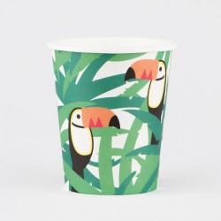 8 gobelets - toucan