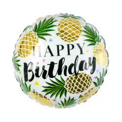 1 ballon Happy Birthday ananas