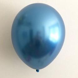 Ballon uni chrome bleu