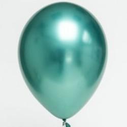 Ballon uni chrome vert