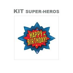 kit anniversaire superhéros