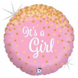 Ballon aluminium mylar - It's a Girl