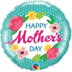 Ballon Mylar aluminium - Happy Mothersday - 46cm