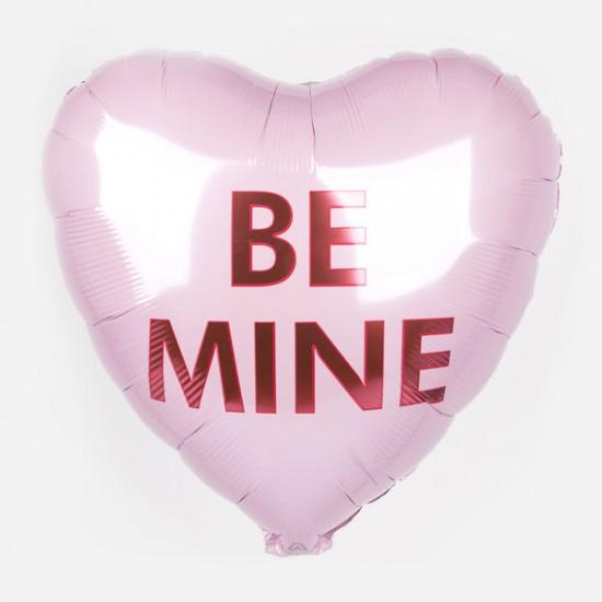 Ballon Mylar aluminium - Coeur Be Mine - 46 cm