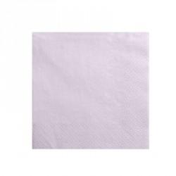 20 Serviettes lavande clair 33x33cm