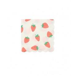 16 petites serviettes - Fraise
