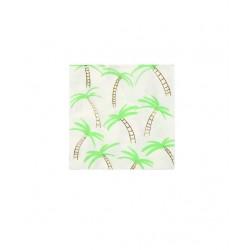 16 serviettes palmier