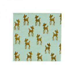 16 serviettes - faon doré