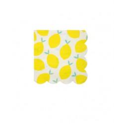 16 petites serviettes - Citron