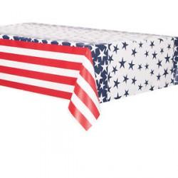 1 nappe plastique drapeau américain