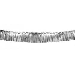1 guirlande frange métallique argent 6 m