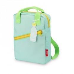 1 sac à dos large Zipper Blue