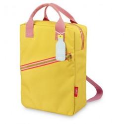 1 sac à dos large Zipper Yellow