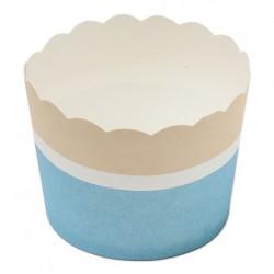 25 cupkakes carton bleu