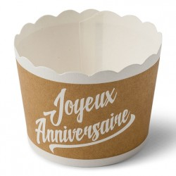 25 Cupcakes kraft et blanc