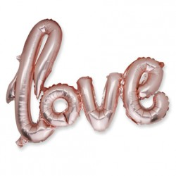 Ballon metal love rose gold