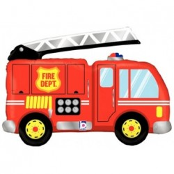 Ballon mylar - camion de  pompier