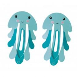 Set de deux barrettes octopus