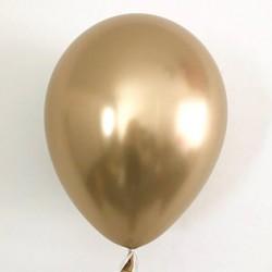 Ballon chrome Or