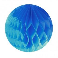 Boule alvéolée turquoise15 cm