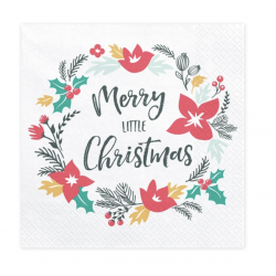 20 serviettes Merry Little Christmas