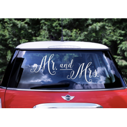 1 stickers pour voiture Mr and Mrs