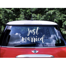 1 stickers pour voiture Just Married