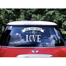 1 stickers pour voiture All you need is love