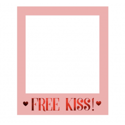 1 cadre photobooth selfie Free Kiss