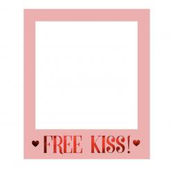 1 cadre photobooth selfie Free Kiss