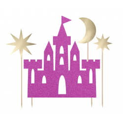 1 cake topper chateau de princesse